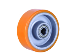 Best Price 1002-100*38*41 Hand Hydraulic Carrier Polyurethane wheel with aluminum center best price 100