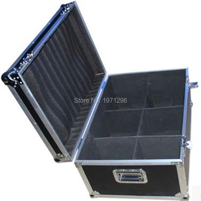 FREE shipping Cool Flight case/Air box for 6pcs LED Wash Moving Head light  LED Spot 10W/15w/30w LED Wash 7x12W /18x3W