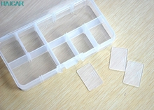1 Set 13*6.5*2 cm Clear Storage Case Box Holder Container Pills Jewelry Nail Art Tips 10 Grids Support Dropship feb22