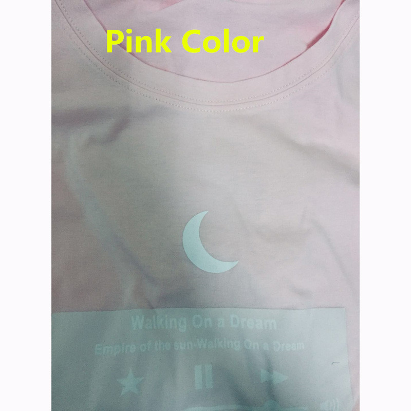 1b4f8d36 ירח חברי T חולצה חמודה IG החם הקוריאני Ulzzang סגנון ורוד מומלץ ...
