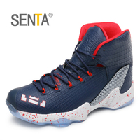 SENTA Men Basketball Shoes Breathable Professional Kids High Top Sport Sneakers Comfortable Outdoor Walking Shoes Size