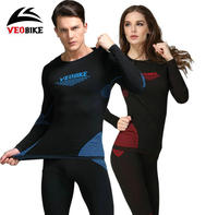 VEOBIKE 2018 Thermal Base Layer sets Under Wear Cycling Bike Long Sleeve Jersey Tight Pants MTB bicycle cycling sport clothing