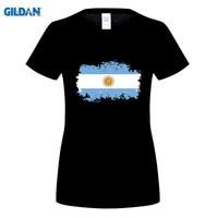 GILDAN Argentina National Flag T Shirts Short T Shirts Nostalgic Style Star Players Maradona Messi Fans