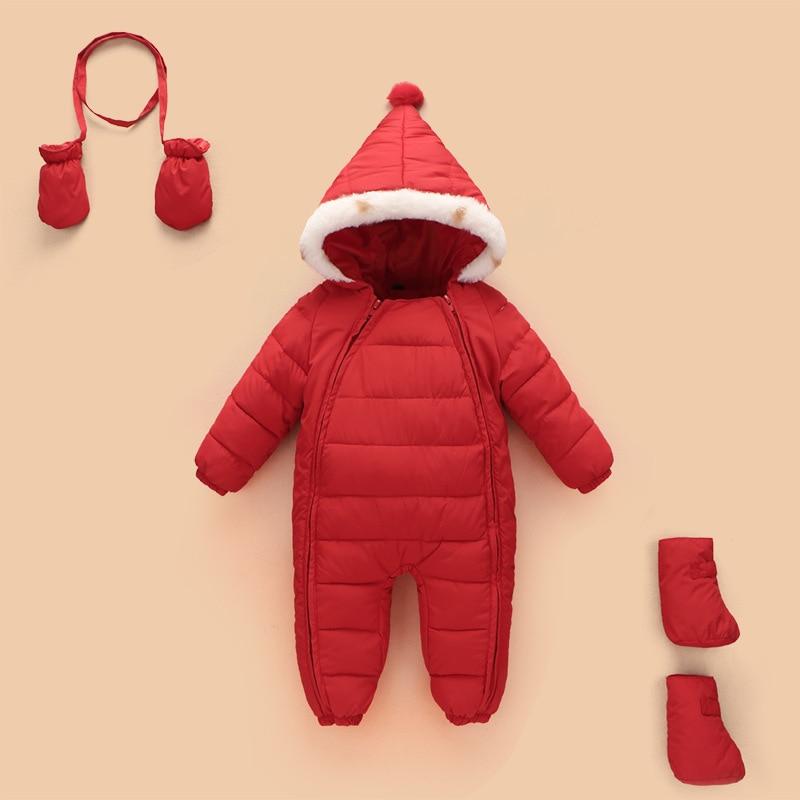 f28cc485c595 Winter Baby Girls Boys Warm Snowsuit Toddler Cotton Romper Baby ...