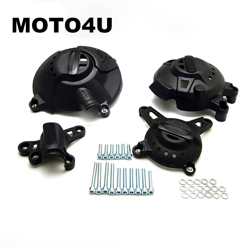 MOTO4U 4PCS For Yamaha MT-09 FZ-09 Tracer MT 09 MT09 2013 2014 2015 2016 2017 accessories Engine Cover Protector Guard Crash Set arashi 1 pair air intake inlet guard cover protector for yamaha mt 09 mt09 fz 09 2014 2015 2016 5 colors