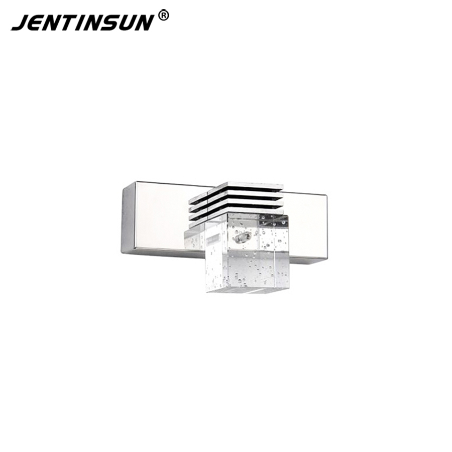 Crystal ledmirror light bubble crystal stainless steel bathroom mirror - 1 Head 3w 14cm Modern Led Wall Lights Lamp Crystal Glass Bathroom Mirror Light For Livingroom Kitchen Sconce Fixture Bracket