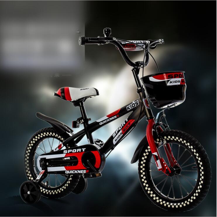 Vélo pour enfants bébé poussette vélo 12 pouces 14 pouces 16 pouces vélo tour sur jouets pour enfants quatre roues vélo 3-8 ans - 2