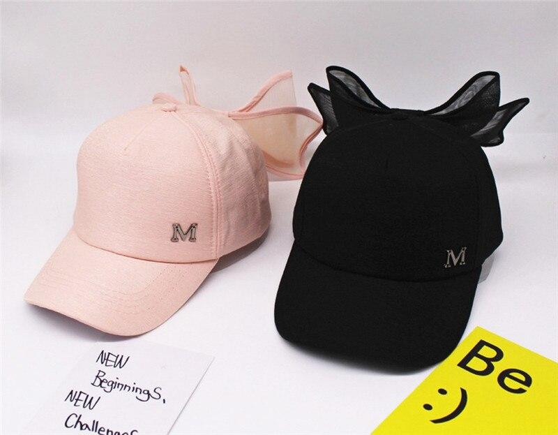 Lace Bow Baseball Cap Hip Hop Bone Snapback Hats For Women M Letter Lovely Baseball  Caps Hat funny Casquette snapbacks bone hat-in Baseball Caps from ... 57907fcf157