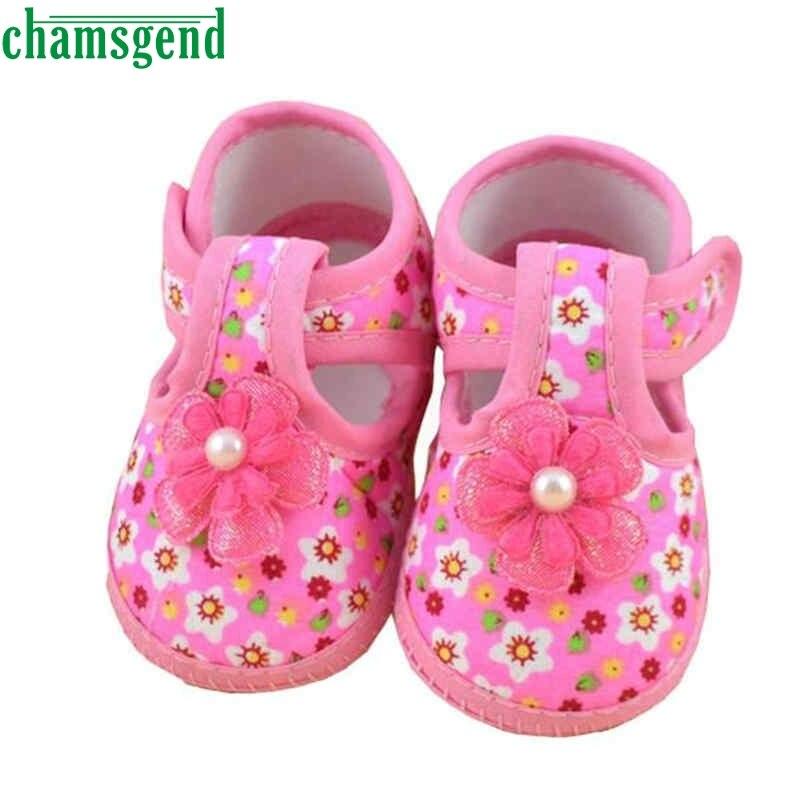 CHAMSGEND bebé zapatos de Bebé de La Flor Suave Zapatos del Pesebre para niñas n