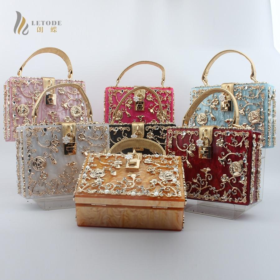 New Luxury Brand Women Shoulder Crossbody Bag Evening Clutch Bags Crystal Purse Diamond Studded Lock Metal