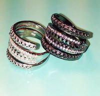 Luxury Brand New Design Multilayer Zipper Rings For Men Women 925 Sterling Silver Couple Lover Rings Full AAAA Cubic Zirconia