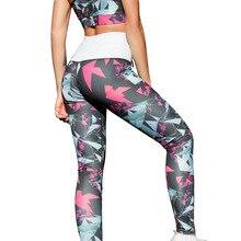 VVUES Ladies Sport Leggings Yoga Pants Women Fitness High Elastic Digital Printing Stretch Soft