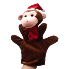 Stuffed plush Toy monkey hand puppet children baby Puppet toys Christmas gift happy monkey