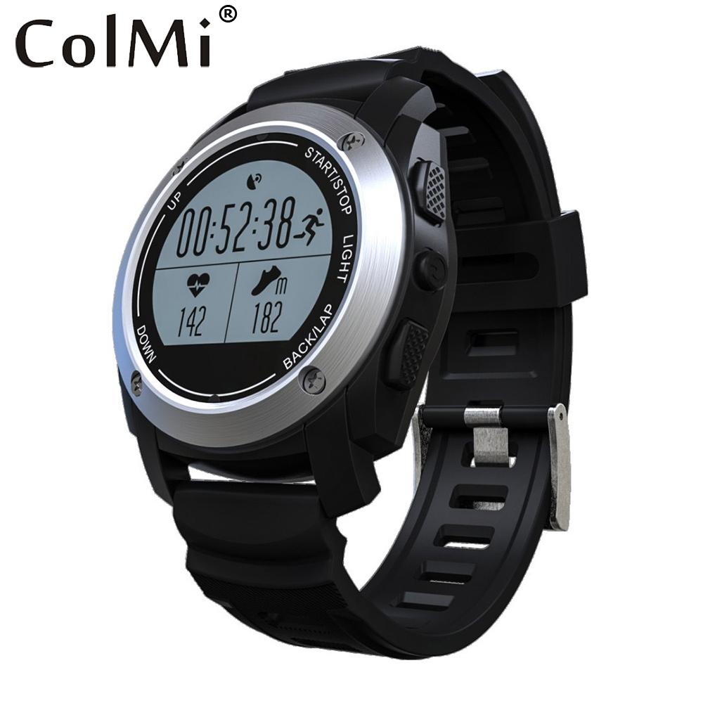 Prix pour Colmi VS503 GPS Smart Santé Montre de Fréquence Cardiaque Tracker Thermomètre Baromètre Multiples Sport Mode Horloge Pour Android iOS Smartwatch