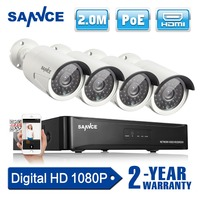 SANNCE 4CH 1080P 2 0MP Network NVR POE IP Camera Outdoor CCTV Home Surveillance Video CCTV
