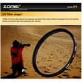 Zomei 40.5/49/52/55/58/62/67/72/77/82/86mm filtro uv ultra-violeta lens protector para canon nikon câmera