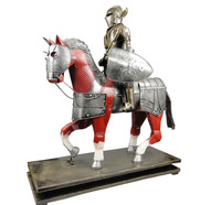 The new medieval knight armor shield Decoration Iron model handicrafts shop opening gifts