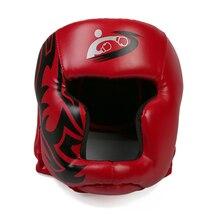 Боксерский шлем Синтетическая кожа головные уборы MMA бои защита головы спарринговый шлем, SanjoinBlack красный боксерский шлем