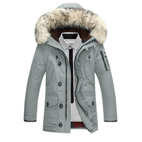 Down   Jacket Men 90%Duck   Down   Warm Winter Jackets Men Fashion Casual Hooded Thick Warm Windproof Outerwear   Down     Coats
