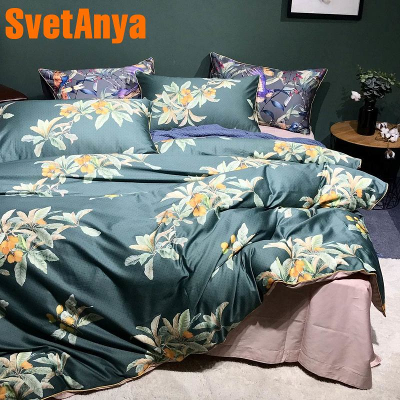 Svetanya 100 Cotton Bedding Set Print Bed Linens King Queen Double Size
