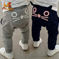 Monkids Baby Pants Retail New 2017 Spring and Autumn Kids Clothing Boys Girls Harem Pants Cotton Owl Trousers Baby Pants