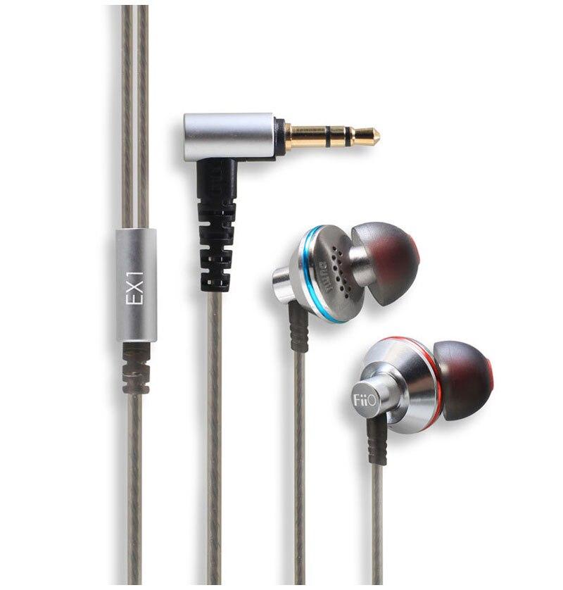 Hifi in-ear EX1 écouteurs Studio métal stéréo musique aérospatiale Nanotech titane Super basse pour Fiio X7 X5 X3 X1 avec boîte de vente au détail