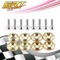 Grt-2015 nuevo diseño ryanstar racing jdm style fender arandelas de oro de aluminio kit 1 Unidades = 8 unids arandelas y tornillos
