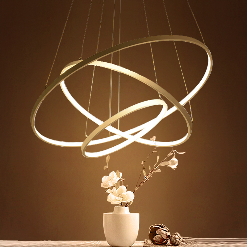 Modern LED Pendant Lights for Living Room 3/2/1 Circle Rings Acrylic Aluminum Body Pendant Lamp Hanglamp lamparas colgantes direct heating 216 0707005 216 0707009 216 0683008 216 0683013 216 0683010 216 0683001 216pvava12fg 216qmaka14fg stencil
