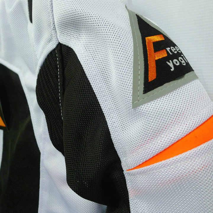 Новинка brnad free-yogin летняя дышащая сетчатая ткань hornier flanchard Автомобильная гонка одежда мотоциклетные куртки имеют защиту