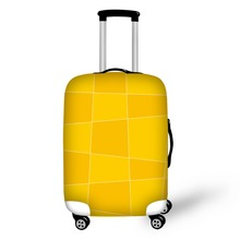 цена на 3D Geometric patterns print on suitcase luggage travel luggage protective cover anti-dust trolley cover for 18 to 30 inch bag