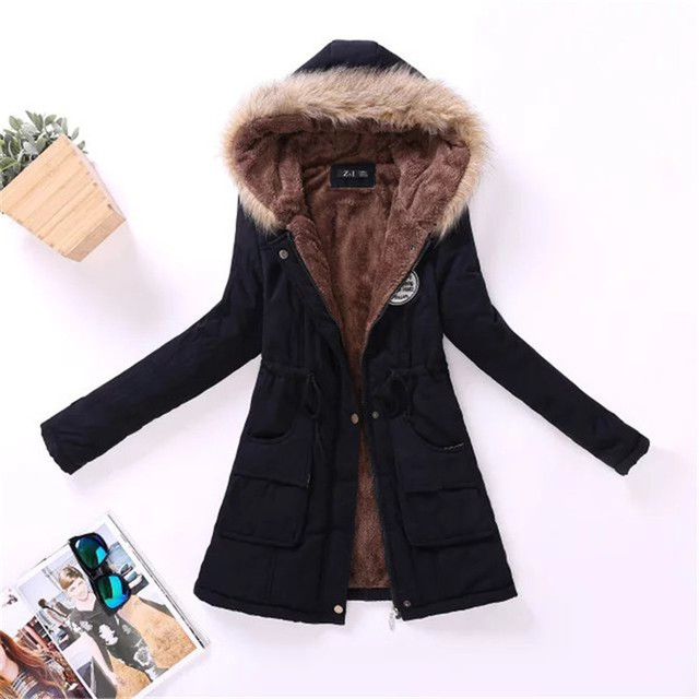 9c1a808dd9227 Jacket Women 2018 New Parka Female Women Winter Coat Thickening Cotton  Winter Jacket Womens Outwear Parkas for Women Winter