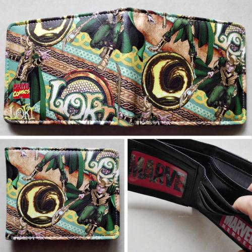 2018 Marvel Мстители Тор Локи логотип кошельки кошелек multi-Цвет 12 см  кожа W162 dfb23f40e16