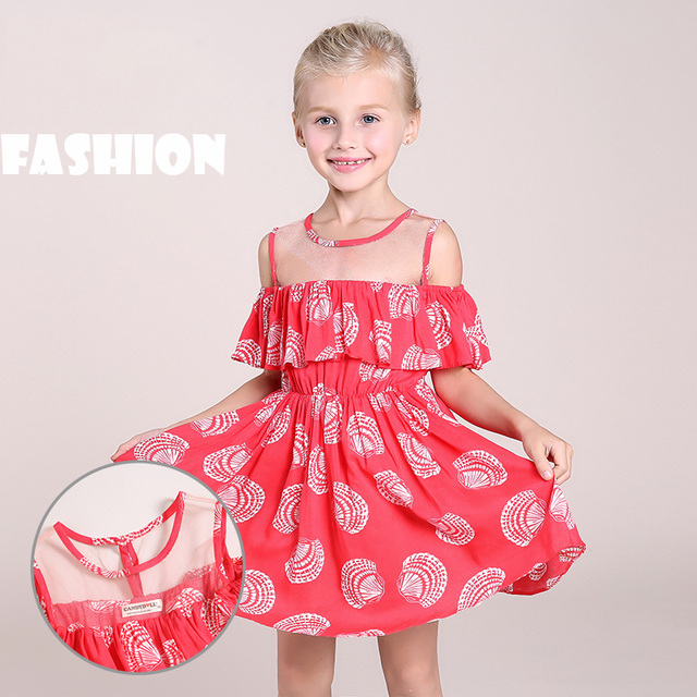 22b5e1e4acc4 Baby Child Girls Pageant Lace Off-shoulder Dress Kids Shoulderless Party  Wedding Formal Fashion Red