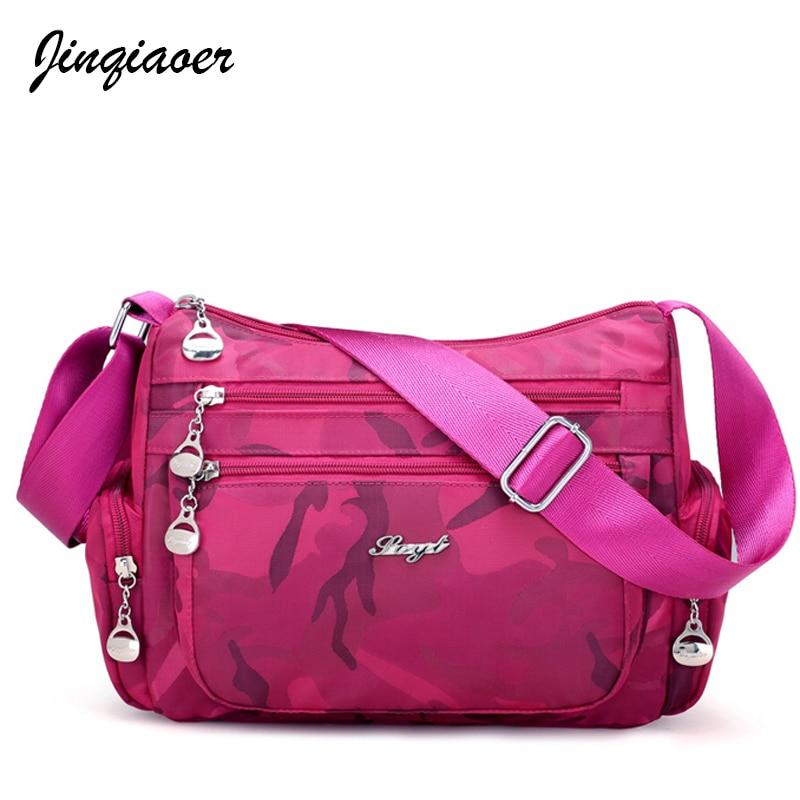 High Quality Women Messenger Bag Nylon Waterproof Women Bags Shoulder Cross-body Bags Fashion Ladies Handbags School Bag JQ059/q