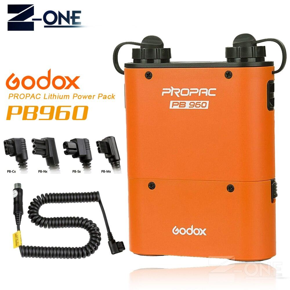 Batterie Flash Speedlite Orange à double sortie Godox PB960 4500 mAh pour Canon Yongnuo Godox Nikon Sony Metz