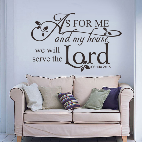 Scripture Wall Decal As For Me And My House We Will Serve The Lord