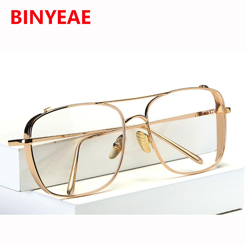 Oversized Square Clear Lens Gold Eyeglasses Frame Women Transparent Glasses Optical Myopia Spectacles Luxury Brand Eyewear|gold glasses frames|brand glasses frameglasses brand frame - AliExpress
