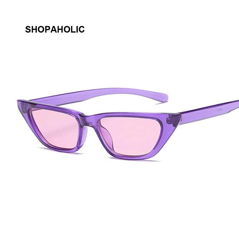Gafas De Sol Retro ojo De gato montura pequeña triángulo púrpura gafas De Sol  para mujer c533ab281e1b