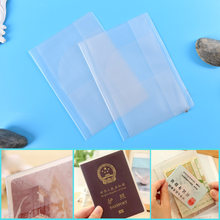 2PC 100% brand new and high quality Travel Protector PVC Waterproof Passport Cover Holder Case Organizer ID Card(China)