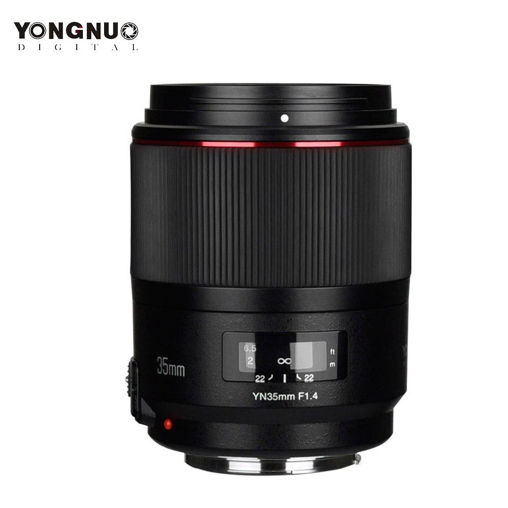 YONGNUO YN35MM F1.4 objectif grand Angle Standard pour Canon à ouverture lumineuse objectif de caméra reflex numérique Prime pour 5DIV 80D 760D 7D MARK II