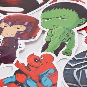 Image 4 - 101pcs/set Juguetes de Marvel Los Vengadores Endgame  Pegatinas Superhéroe Hulk El Hombre Hierro Hombre Araña Capitán América Sticker de carro para Luggage