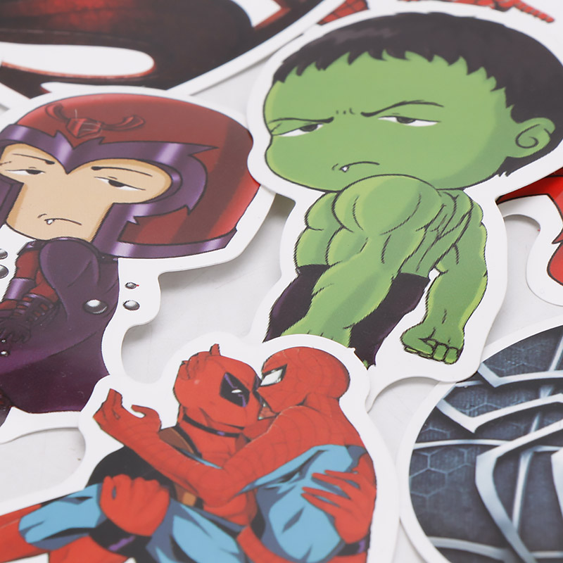 Image 4 - 101pcs/set Marvel Toys Avengers Endgame Stickers Super Hero Hulk Iron Man Spiderman Captain American Car Sticker for Luggage-in Action & Toy Figures from Toys & Hobbies