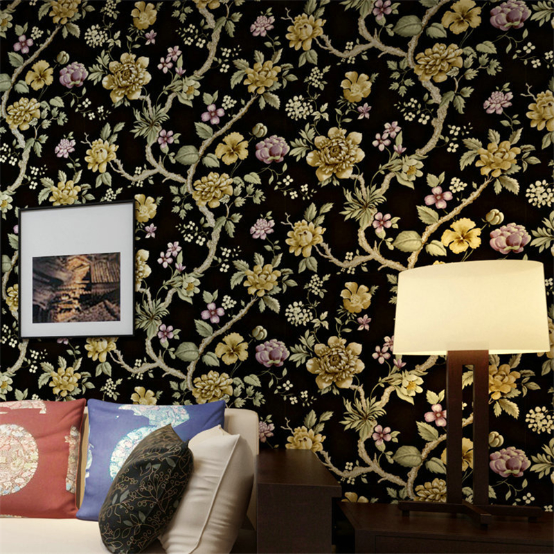 beibehang Non - woven wallpaper Pastoral flower bedroom bedroom sofa background wallpaper papel de parede, 3d wallpaper pastoral large flower wallpapers 3d stereoscopic non woven embossed wallpaper for living room bedroom home decor papel de parede