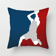 Fuwatacchi Men Sports Printed Cushion Cover Play Basketball Pillow Home Decoration Accessories Pillowcases 45*45 Cm