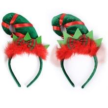 32606c8efcc Girls Creative Christmas Hat Design Headband Women Fashion Party Hair  Accessories Feather Sequins Cute Christmas Headpieces