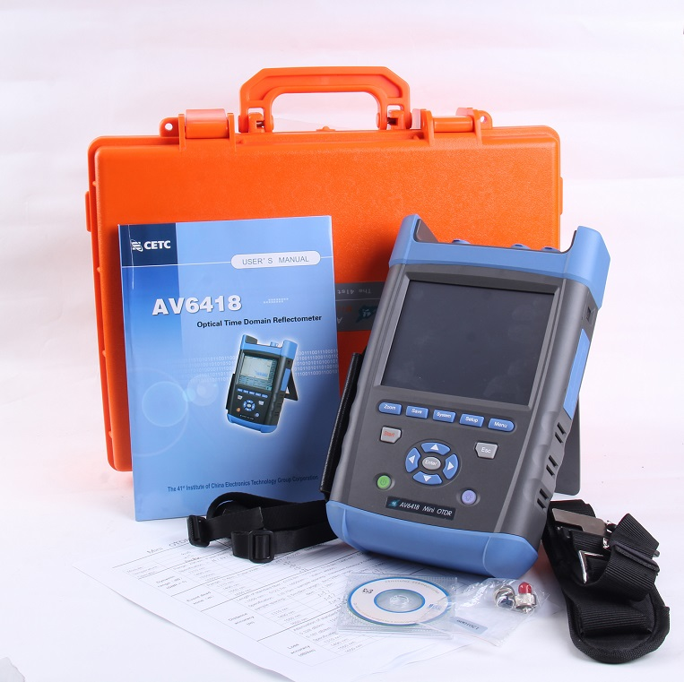 OTDR AV6418 1310/1550nm 45/43dB OTDR Tester Fibra Ottica OTDR con La Funzione di Misuratore di Potenza e VFLOTDR AV6418 1310/1550nm 45/43dB OTDR Tester Fibra Ottica OTDR con La Funzione di Misuratore di Potenza e VFL