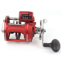 YUMOSHI Left Right Hand Cast Drum Wheel 12 Bearings Fishing Reel with Electric Depth Counting Multiplier