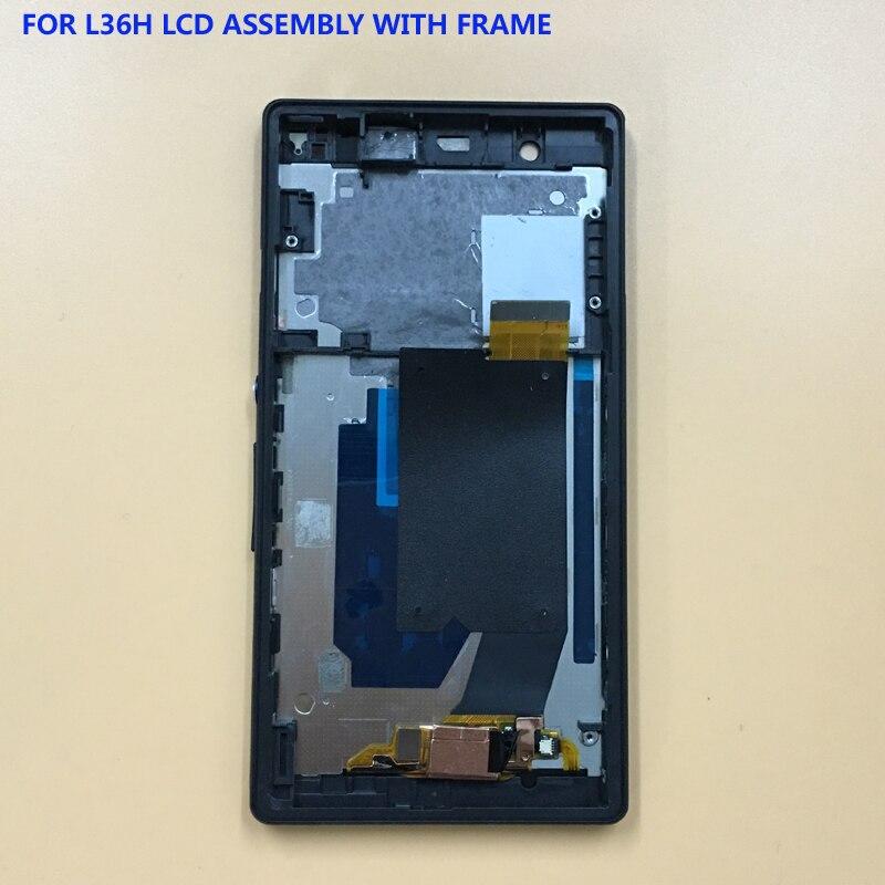 Per Sony Xperia Z L36H L36i C6606 C6603 C6602 C660X C6601 Touch Screen Digitizer Sensor + LCD Display Monitor di Montaggio telaio