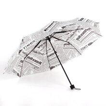 3 складной зонт от солнца, дождя laplaparasol Paraguas с бумажной печатью Портативный Авто