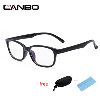 Ordinateur lunettes cadres Anti rayons bleus Radiation hommes femmes carré oeil PC lunettes cadres unisexe optique impression lunettes PC 3028